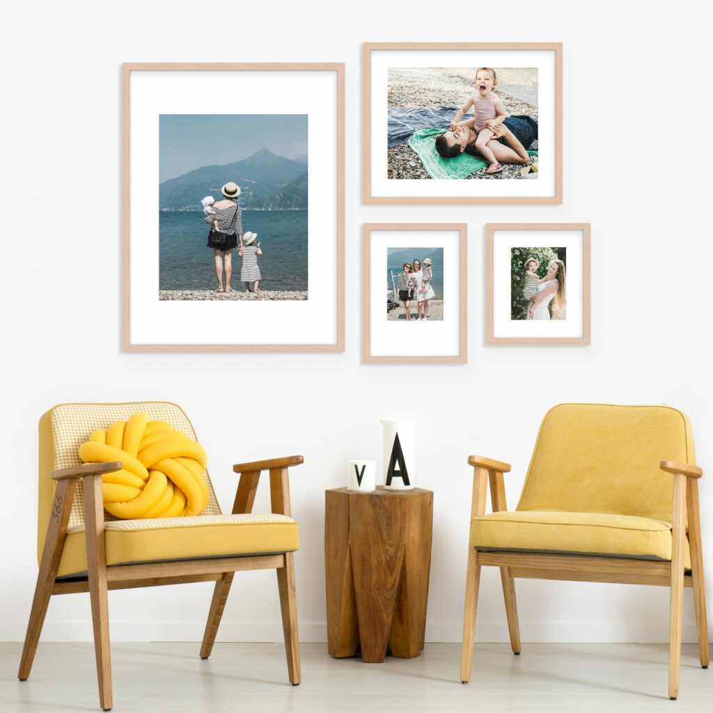 Shifted Grid Gallery Wall Wall art decor design frames framing prints photos
