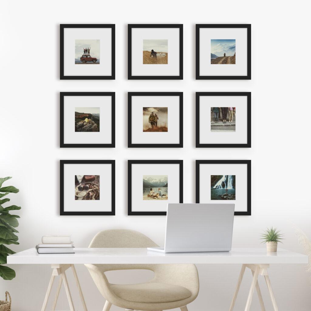Frame photo photos frames Instagram gallery wall grid