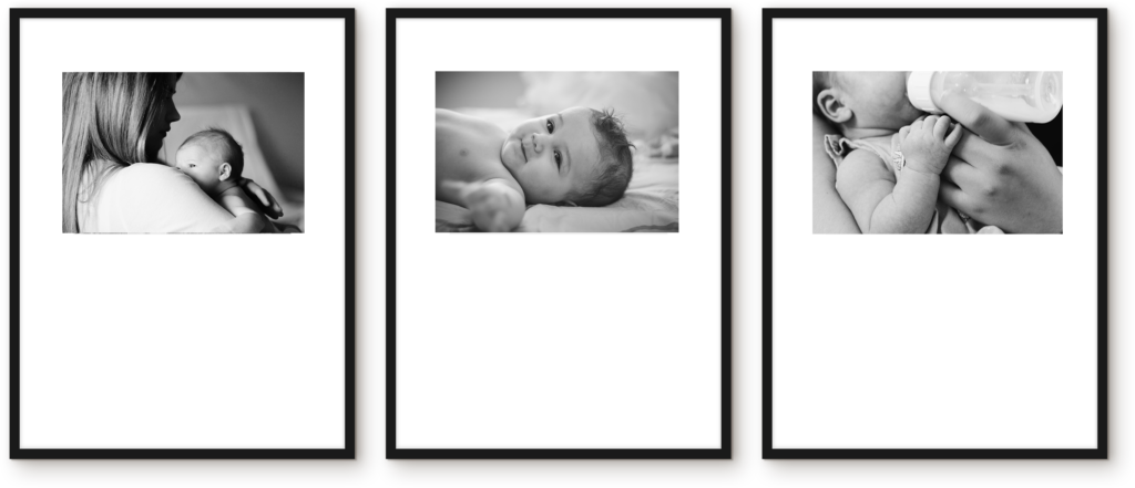 Nursery Triptych picture wall