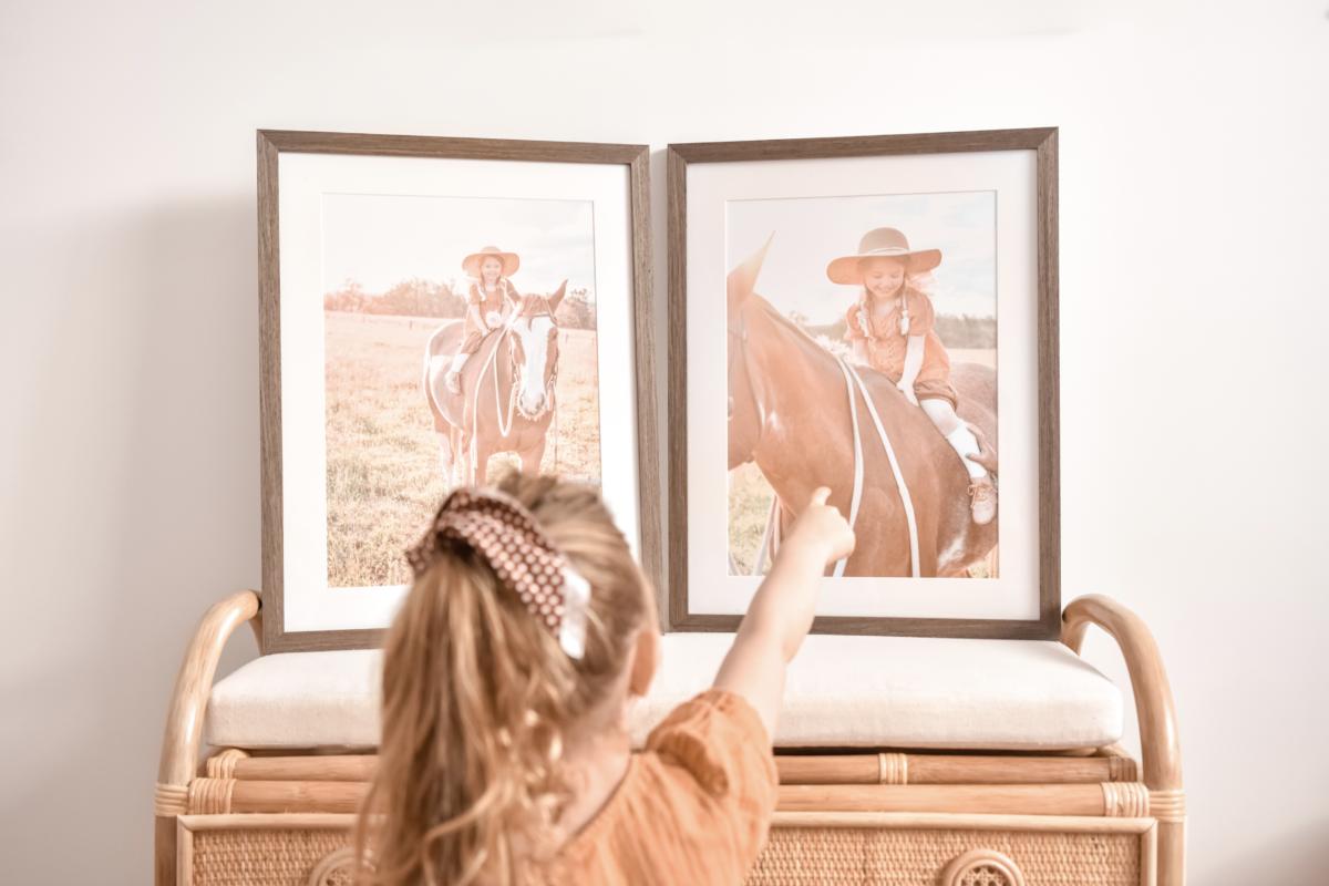 Family photos print and frame