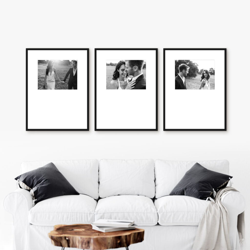 Triptych wedding frames photo series picture