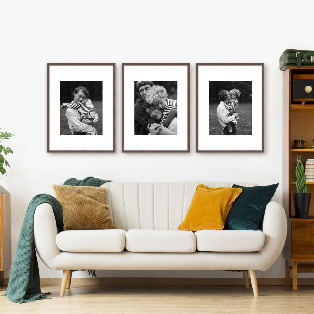 Triptych Family Photo Framed Frames Picture