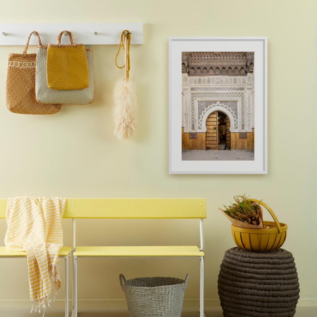 Morrocon Door print trends style prints framing trend