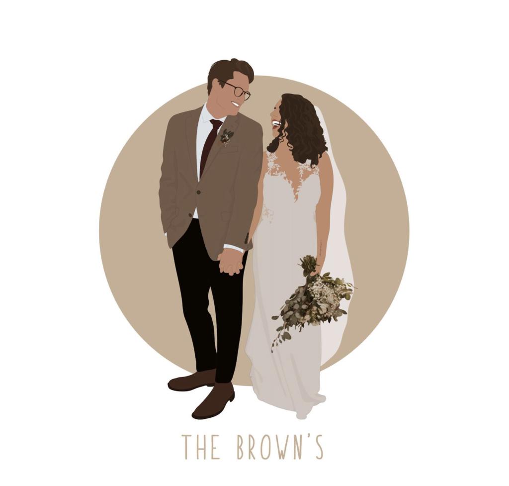 wedding illustration trends framing frame