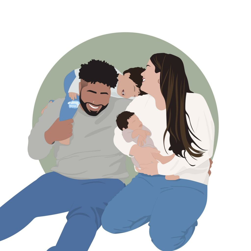 Framing Print Trends Minimial Illustration Family Portrait