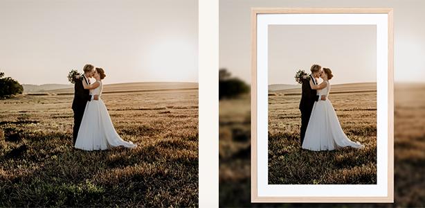 Light wood frames Mayfield Frame Framefox