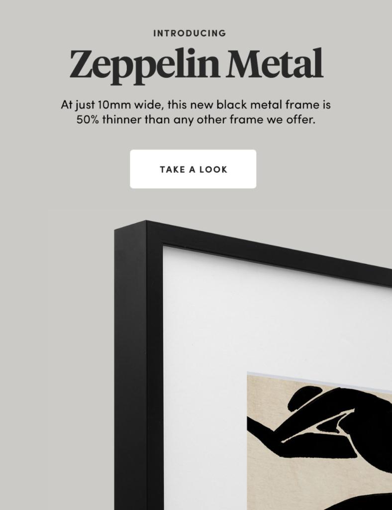 New Frames Zeppelin Metal Black Frame