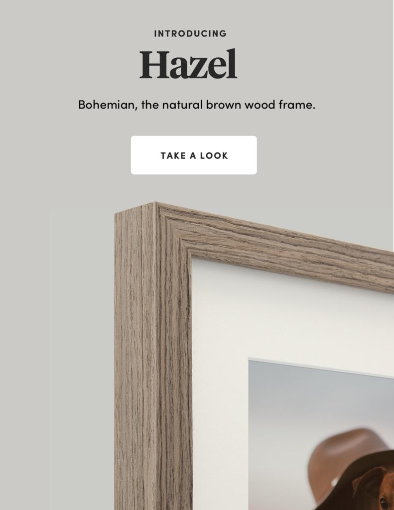 Wood Frames Hazel Raw-timber framing Hazel