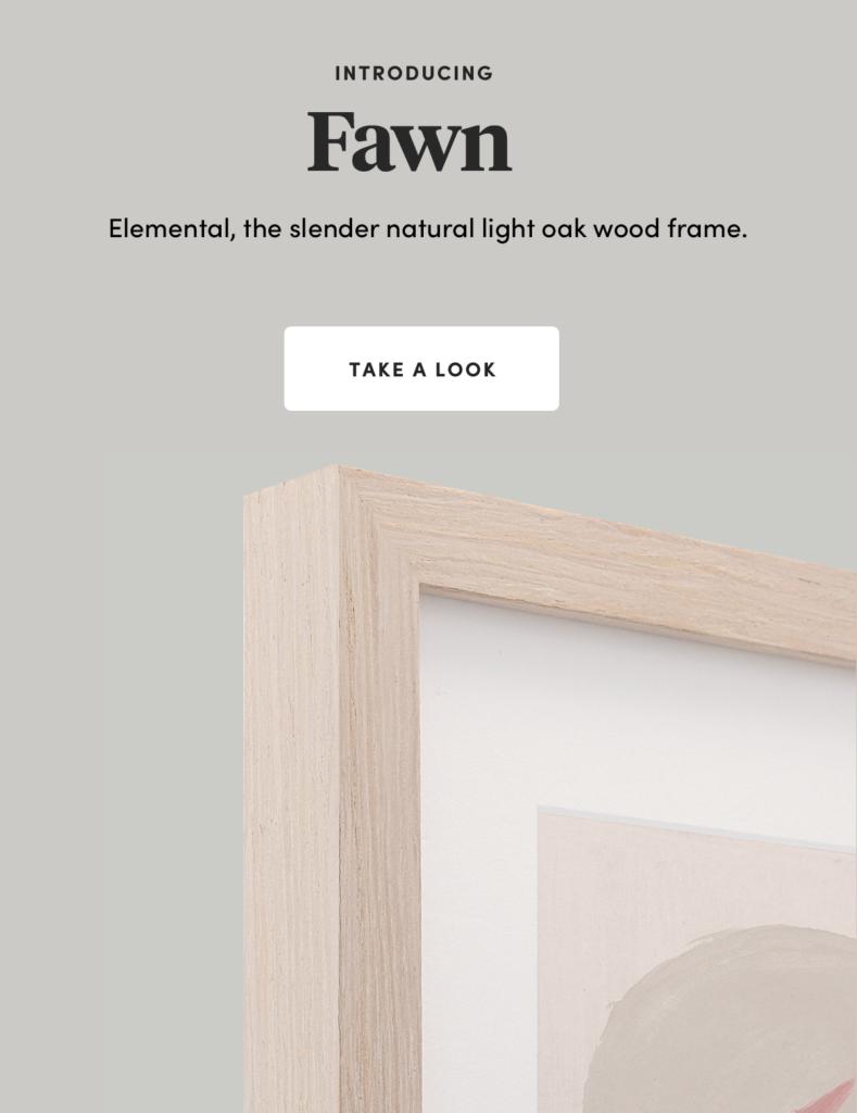 Fawn New light oak frame
