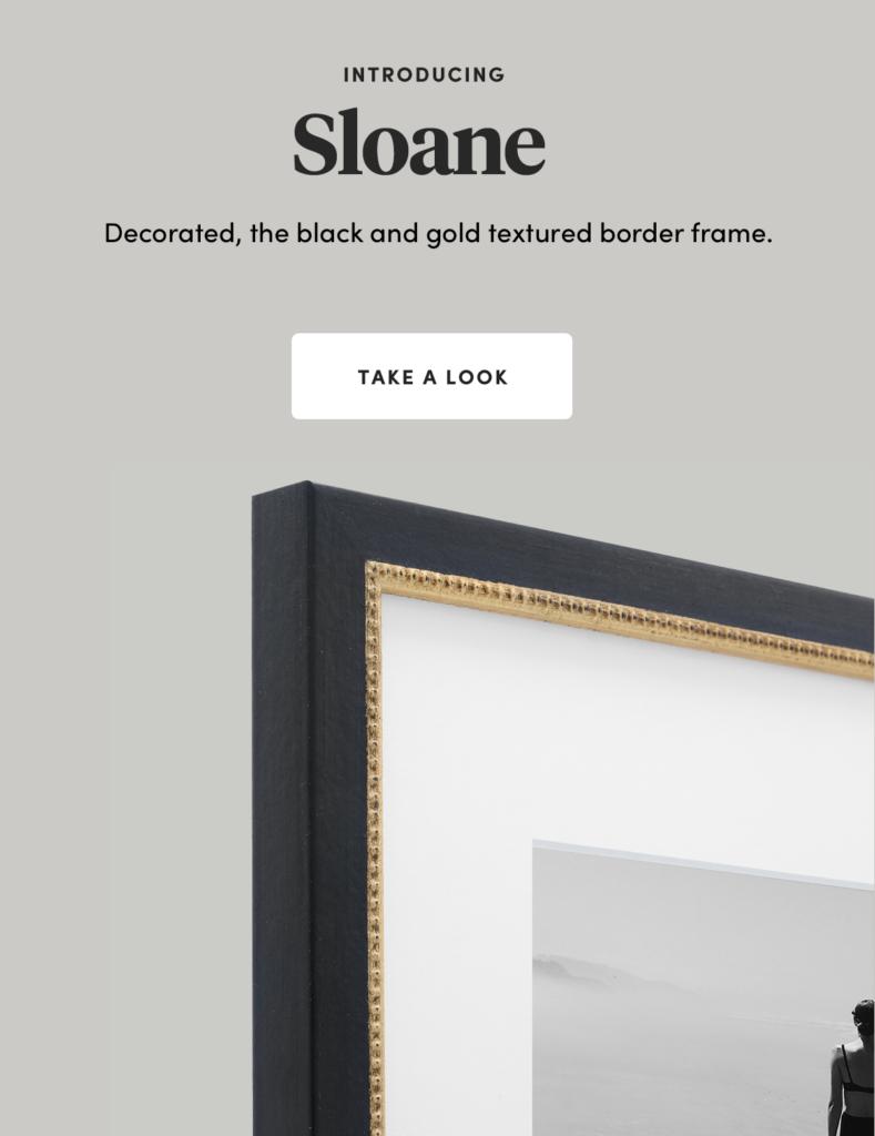 Sloane black and Gold Frame