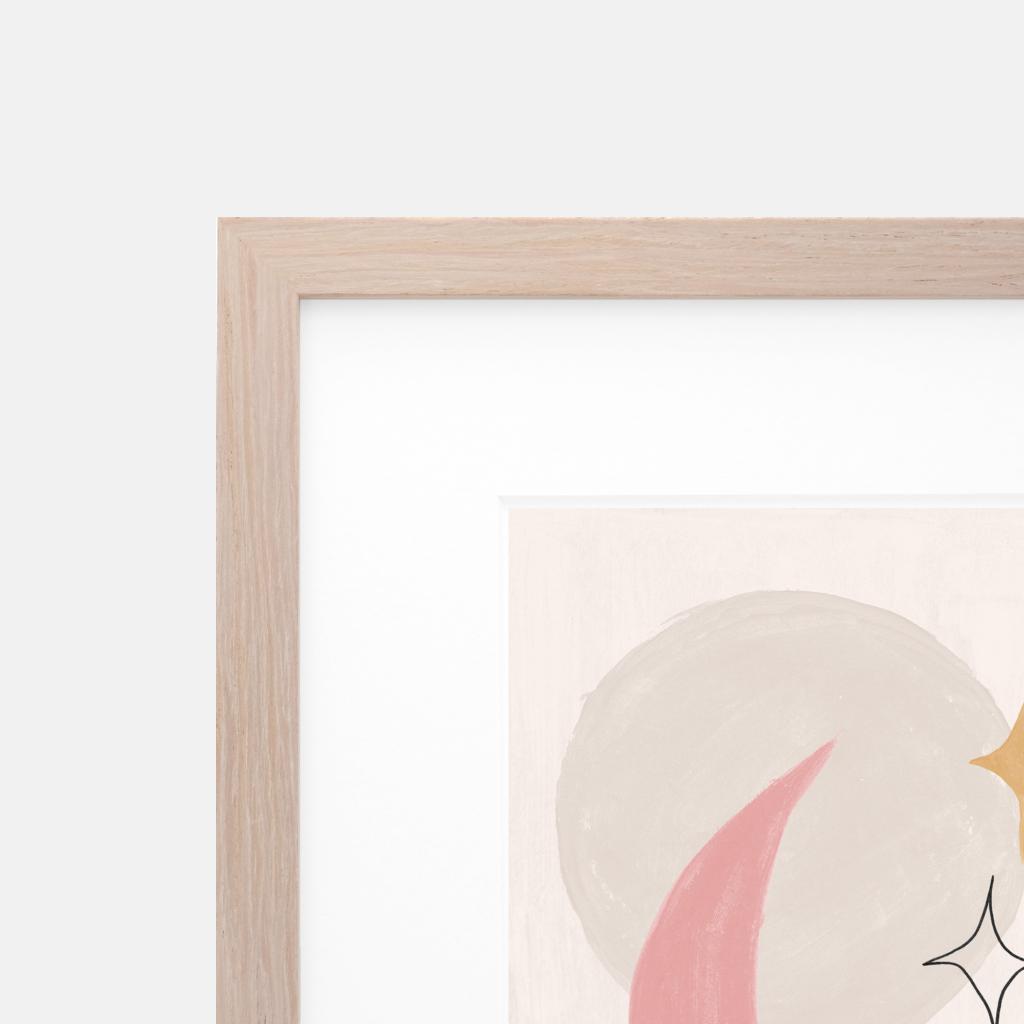 fawn slim light oak frame