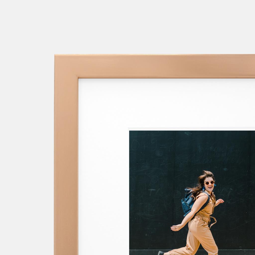 rose gold metallic finish frame